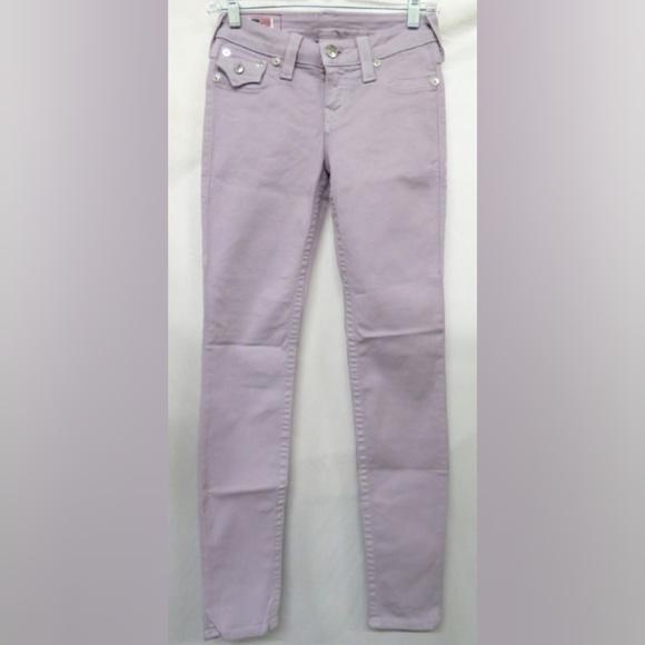 True Religion Denim - True Religion Lilac 'Serena' Skinny Jeans 25 NWOT